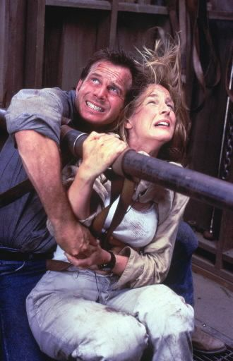 Twister- My husband has taken to attempting to purchase me a Twister movie item whenever he can find it.  (It's a joke at this point.)  We went to see this movie when we were dating and laughed about how little leather straps held them safely while an F5 plowed over everything.