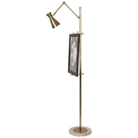 Jonathan Adler Bristol Floor Lamp Easel in Antique Brass