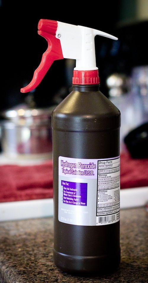 Transformer votre bouteille d'eau oxygénée en vaporisateur