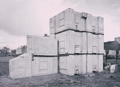 Rachel Whiteread 'House' (1993) She won the Turner Prize in 1993—the first woman to win the prize. House, perhaps her best known work, was a concrete cast of the inside of an entire Victorian terraced house. London Borough Council demolished House in 1994 a decision which caused some controversy itself.   I love the way she reveals the space in which objects exist giving them a tangible form.
