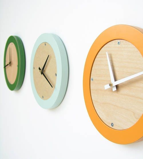 Amazing Tangerine Creamsicle Modern Wall Clock By Uncommon On Etsy