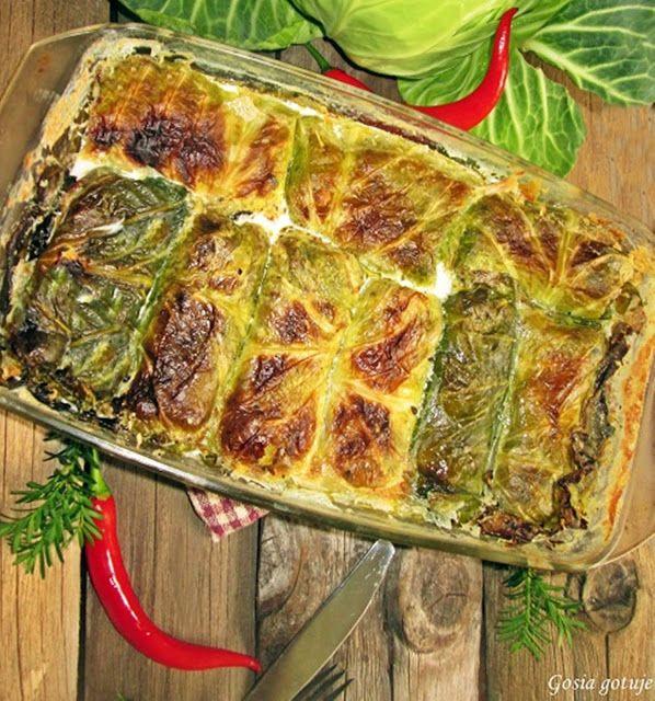Gosia gotuje: Gołąbki z ziemniakami z piekarnika
