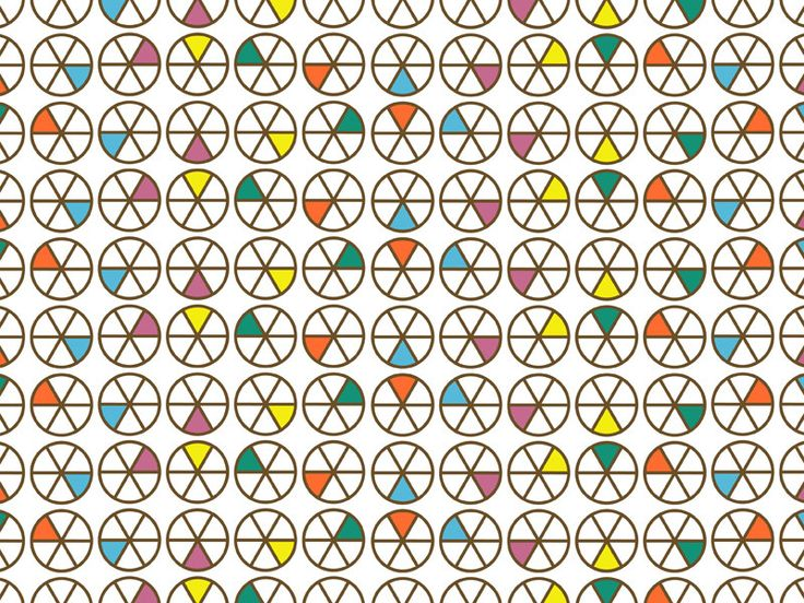 A pattern inspired by the board game 'Trivial Pursuit' - Alison Haigh
