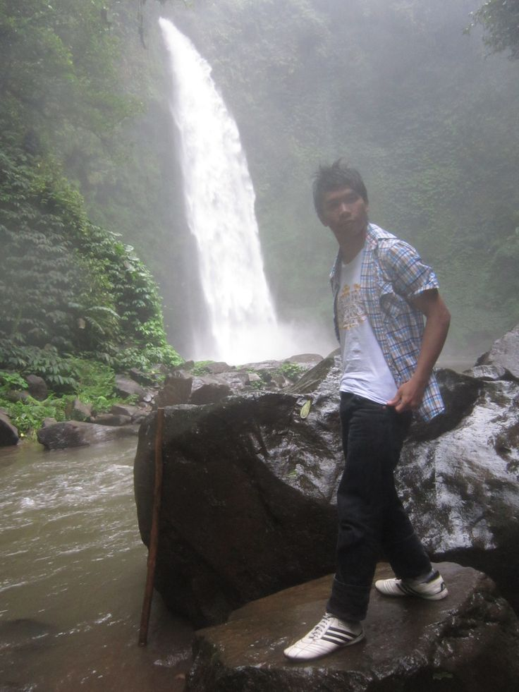 Nungnung WaterFall, Petang, Bali, Indonesia,. What a beautiful place,.. :) #Holiday