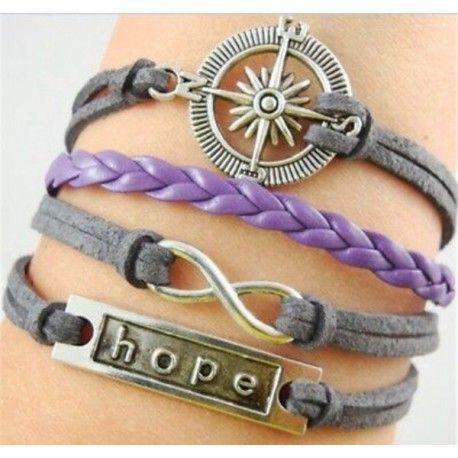 Браслет Hope (компас, бесконечность)