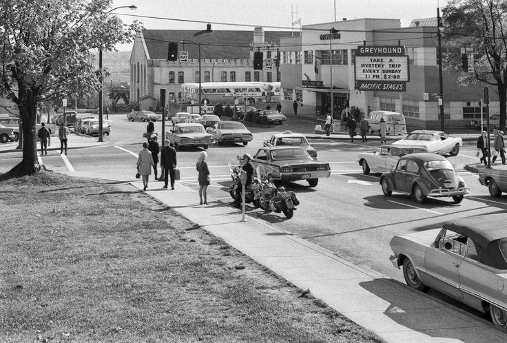 Bus Station on Dunsmuir, 1971, Photo by Richard Watson.