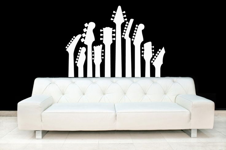 Guitar Necks - Vinyl Wall Art Decal. $38.00, via Etsy.