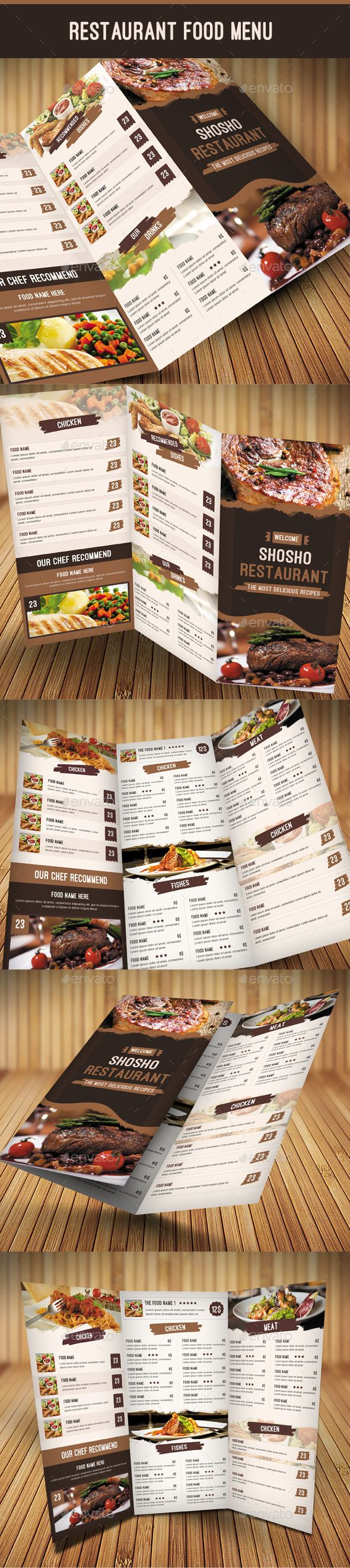 13 best Menu design images on Pinterest Graphics Restaurant menu