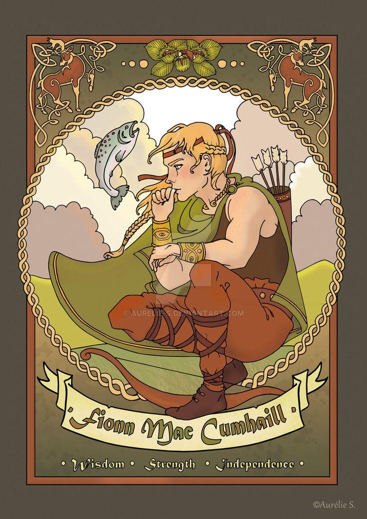 Fionn Mac Cumhaill - coloured page by Aurelie-S.deviantart.com on @DeviantArt