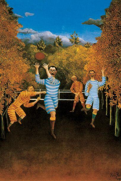 Les Joueurs de football, 1908. Huile sur toile, 100,5 x 80,3 cm. The Solomon R. Guggenheim Museum, New York.