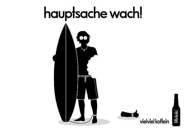 Hauptsache wach! – Print-Werbung für Fritz-Kola   KlonBlog
