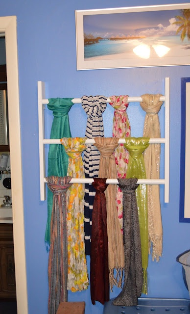 Scarf hanger/display  gina-of-all-trades: My triple play