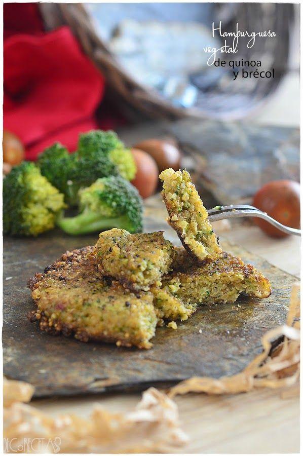 Una hamburguesa saludable de quinoa y brécol que seguro que gusta a todos en casa. La receta es del blog DECORECETAS.