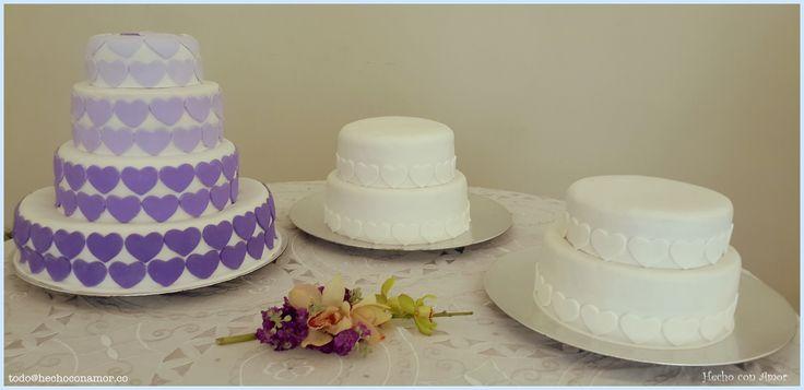 Weeding ombre cake.