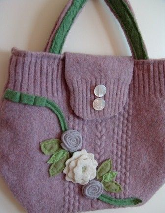 Recycled wool sweater PURSE