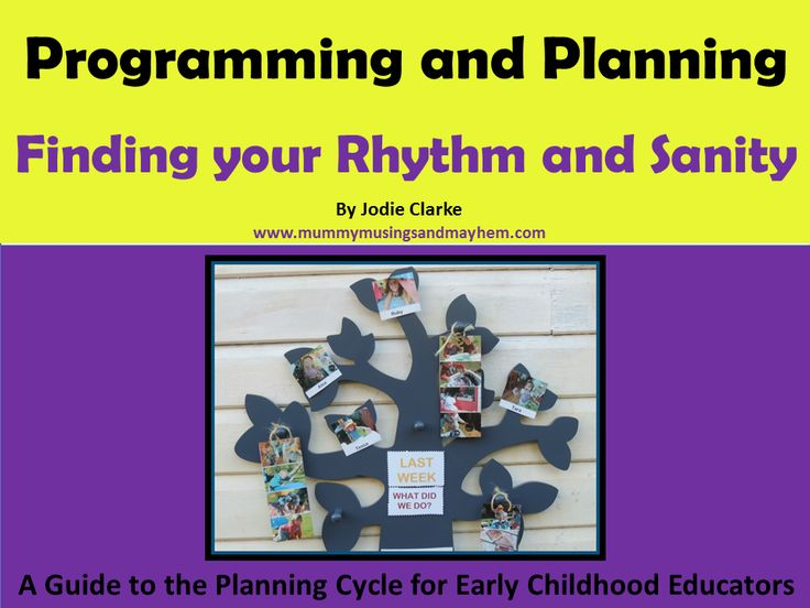 An E-book helping early childhood educators to find their programming and planning rhythm without the stress. Templates and over 160 pages of useful, easy to understand information...see more at Mummy Musings and Mayhem