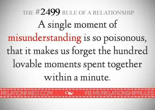 misunderstandings in a relationship