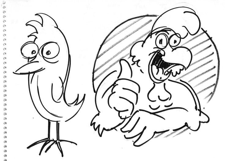 Rough layout for Chicken icon for 'charcoal Chickin' shop logo, signage and branding