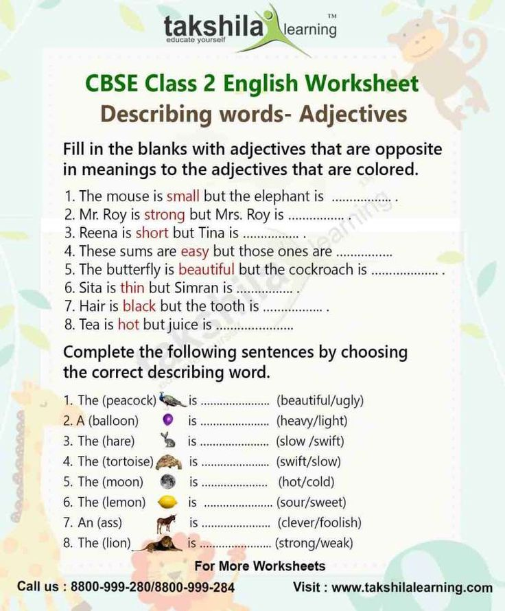 7+ Adjectives Worksheet For Grade 3 Cbse
