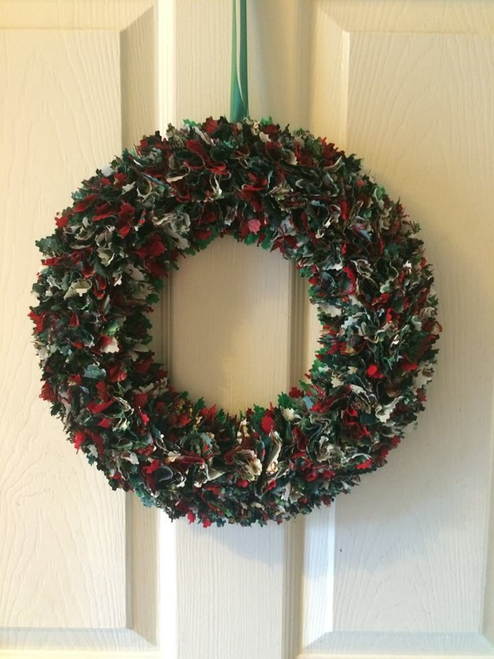 Gorgeous Festive Fabric Wreath - available to order