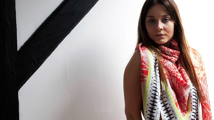 Mille Frydenberg, Silk Printed Scarves, Danish Fashion, Wild Swans