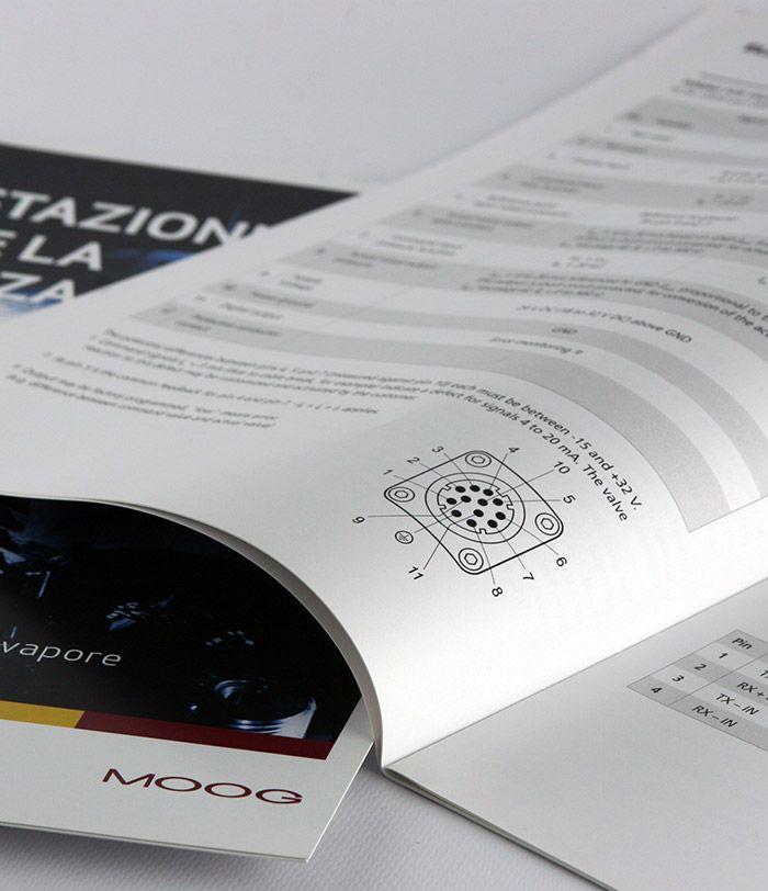 Brochure a punto metallico