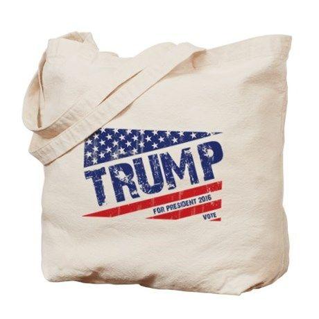 Donald Trump US Flag Tote Bag on CafePress.com