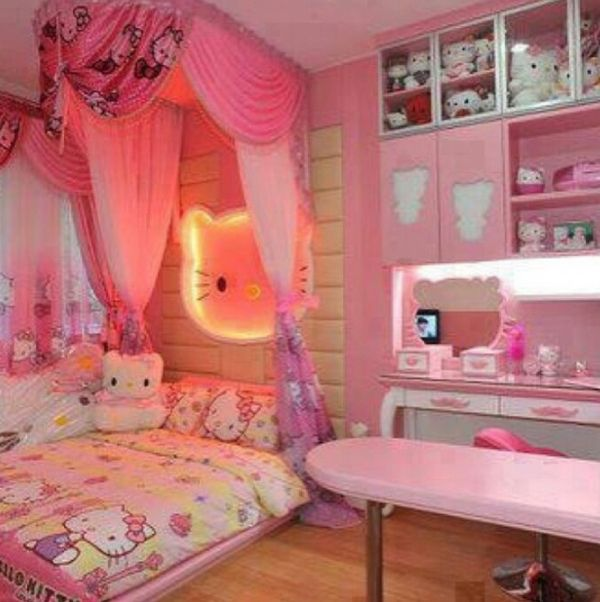 Bedroom Ideas Hello Kitty Soft Bedroom Colors Childrens Turquoise Bedroom Accessories Bedroom Decorating Ideas Gray And Purple: 20 Hello Kitty Bedroom Decor Ideas To Make Your Bedroom