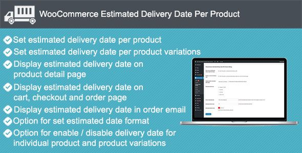 Woocommerce Estimated Delivery Date Per Product