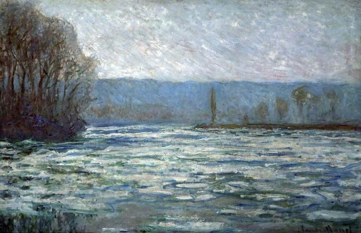 BBC - Your Paintings - Break-Up of the Ice on the Seine, near Bennecourt/ Claude #Monet