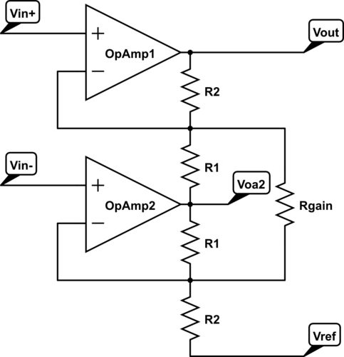 Op Amp #InstrumentationAmplifier circuit is a type of #DifferentialAmplifier that has been outfitted with input buffer amplifiers.