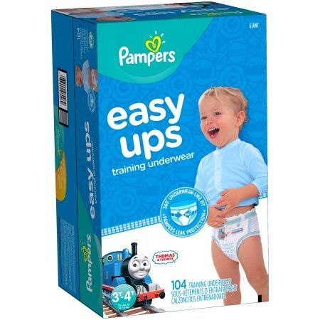 Pampers Easy Ups Training Underwear Boys Size 5 3T-4T 104 Count, Blue