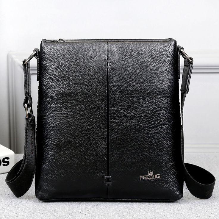 FSDWG cow genuine leather messenger new shoulder bag mens crossbody bag