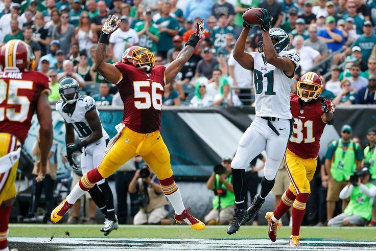 NFL.com Photos - Redskins Eagles Football - Logan Paulsen, Nate Allen