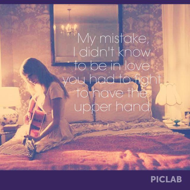 Taylor Swift. White Horse lyrics