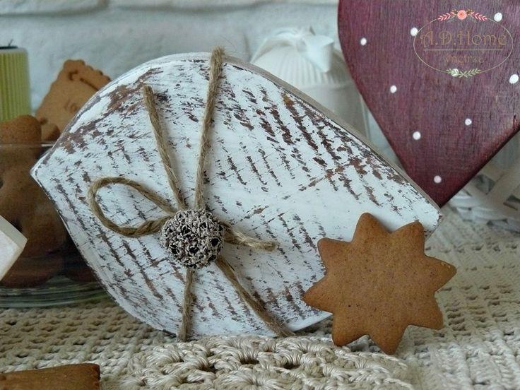 ptak drewniany, shabby chic, hand made, pracownia A.D.Home, dekoracje świąteczne, christmas