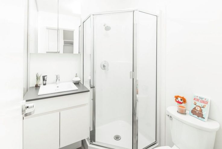 Nano micro suite bathroom with shower at UBC.