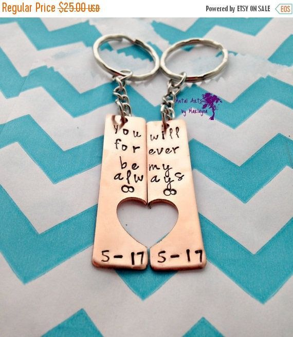 Sweetheart Key Chains, Valentines Day, Infinity Jewelry, BFFs, boyfriend Presents, Couple Jewelry, Anniversary Gifts For Him, Husband Gift