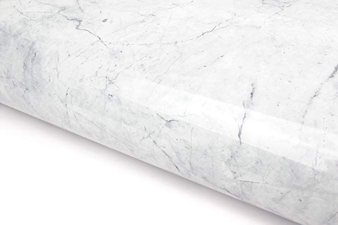 White Grey Granite Look Marble Effect Contact Paper Film Vinyl