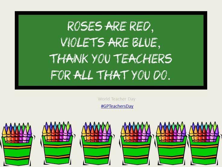 World Teacher Day #GPTeachersDay - Marcy Mahoney