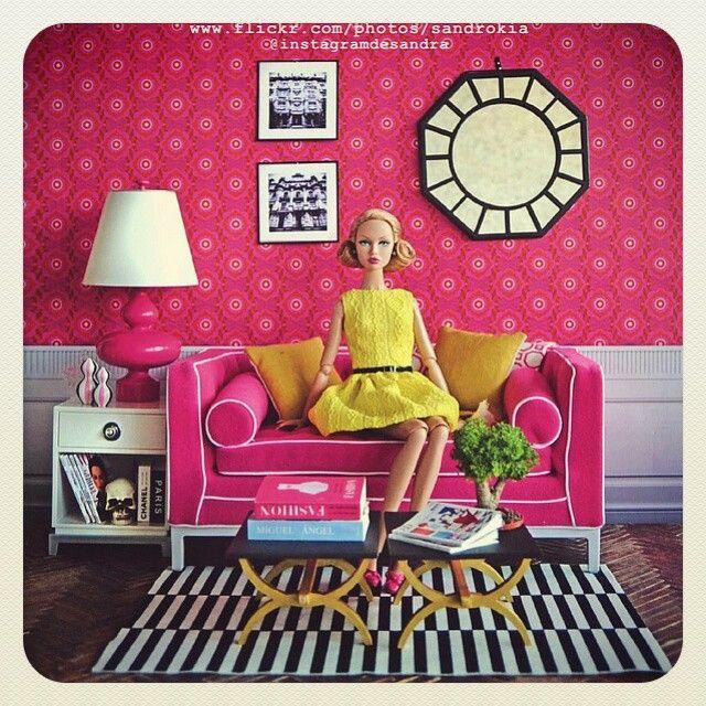 #poppyparker #diorama #ikea #pink #dollcollector #instadoll #dollgram #admagazine #ArchitecturalDigest