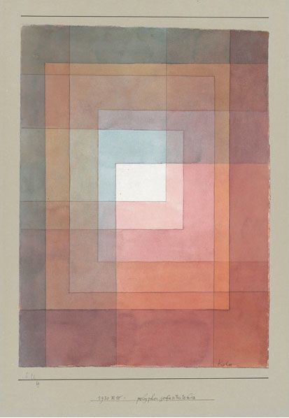 Paul Klee--Want to try quilting some paintings like this and Frank Lloyd Wright's work