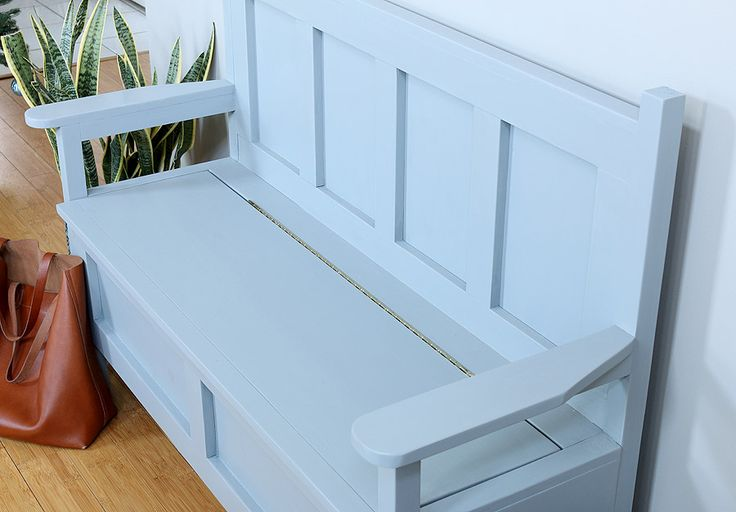 how to build a toy box bench