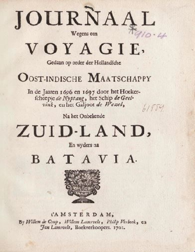 Account of Vlamingh's 1696-1697 expedition from Rottnest Island to Vlaming Head by Mandrop Torst, upper-surgeon of the Nyptang, 1701.  http://encore.slwa.wa.gov.au/iii/encore/record/C__Rb1254023__SAustralia%20--%20Discovery%20and%20exploration%20--%20Dutch.__P0%2C15__Orightresult__X3?lang=eng&suite=def#attachedMediaSection