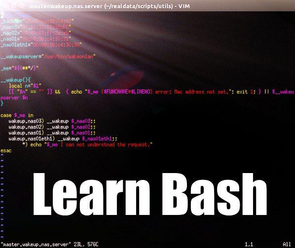 Learning bash scripting for beginners