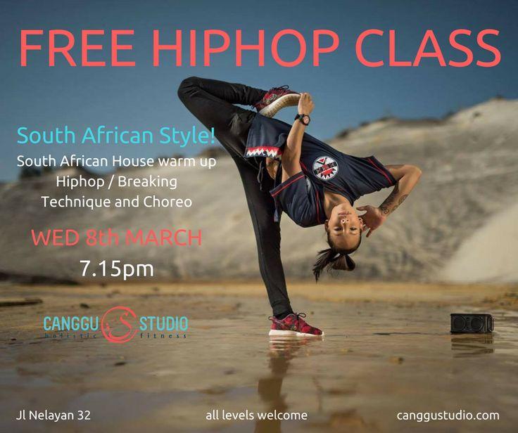 Free Hiphop Class @ CANGGU STUDIO #bali  #BaliEventCalendar #balinesia #hiphop #dance # #CangguStudio