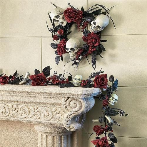 Great spooky decor that could easily be on & around the front door.