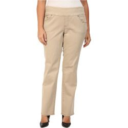 3306685-p-2x Best Deal Jag Jeans Plus Size  Plus Size Peri Pull On Straight Jeans in British Khaki (British Khaki) Women's Jeans