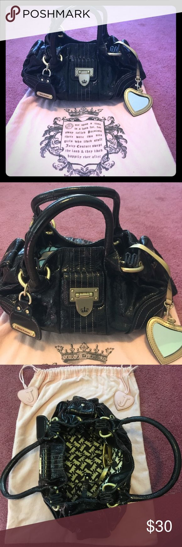 Juicy Couture handbag Gently used. All black with gold detailing. Juicy Couture Bags Mini Bags