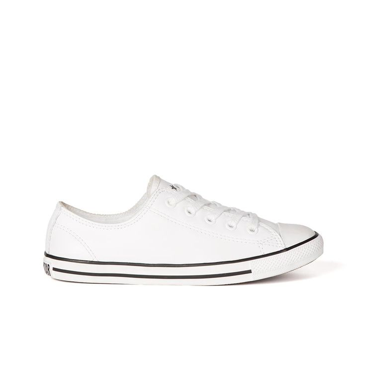 Converse Chuck Taylor All Star Ox Dainty Leather White. Shop Converse for Men, Women and Kids Online @ Platypus Shoes. Free Shipping.